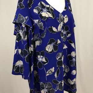 Lane Bryant- NWT Royal blue floral top, size 14/16